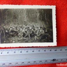 Militaria: FOTOGRAFIA ORIGINAL II GUERRA MUNDIAL OFICIAL Y SOLDADOS ALEMANES. Lote 122867975
