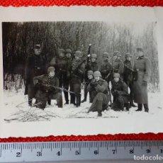 Militaria: FOTOGRAFIA ORIGINAL II GUERRA MUNDIAL SOLDADOS ALEMANES EN LA NIEVE. Lote 122868443
