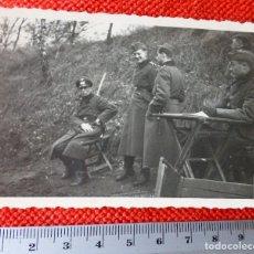 Militaria: FOTOGRAFIA II GUERRA MUNDIAL OFICIAL Y SOLDADOS ALEMANES. Lote 122869127
