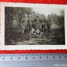 Militaria: FOTOGRAFIA ORIGINAL II GUERRA MUNDIAL SOLDADOS ALEMANES Y AMETRALLADORA. Lote 122869335