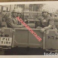 Militaria: MAGNIFICA FOTOGRAFIA BANDERA MOVIL DE LA POLICIA ARMADA, 140X90MM. Lote 123106671
