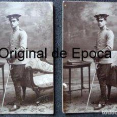 Militaria: (JX-180606)DOS FOTOGRAFÍAS DE SOLDADO DE CABALLERÍA , REG .DE DRAGONES DE NUMANCIA Nº 11. Lote 123120735
