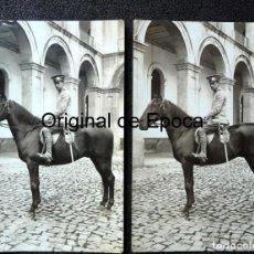 Militaria: (JX-180607)DOS FOTOGRAFÍAS DE SOLDADO DE CABALLERÍA , REG .DE DRAGONES DE NUMANCIA Nº 11. Lote 123120887