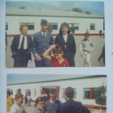 Militaria: LOTE DE 2 FOTOS DE MILITAR DE AVIACION CON FAMILIARES. Lote 123145083