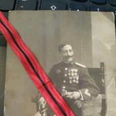 Militaria: FOTOGRAFÍA DE MILITAR ESPAÑOL DE LA CRUZ ROJA AÑO 1912. Lote 123410816