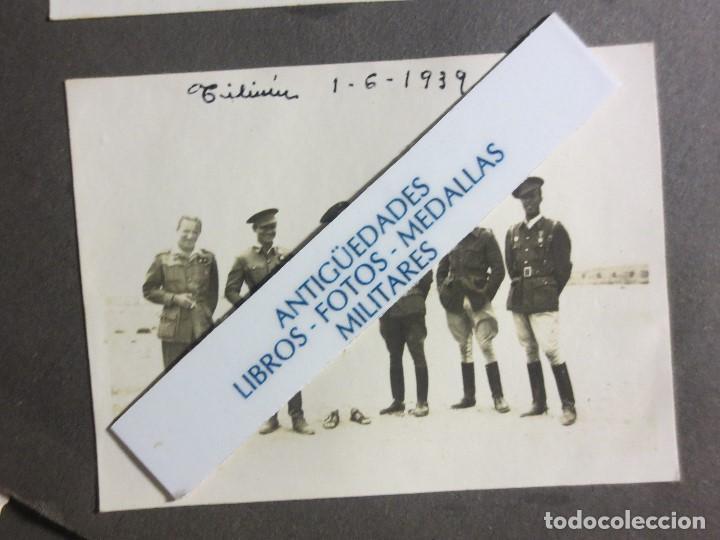 1939 TILIUIN ACABADA LA GUERRA CIVIL ESPAÑOLA GRUPO DE OFICIALES FOTO ORIGINAL (Militar - Fotografía Militar - Guerra Civil Española)