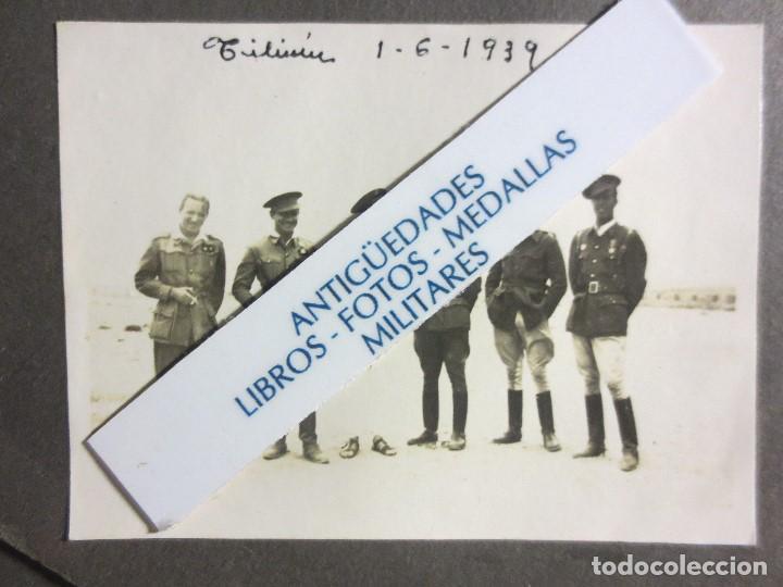 Militaria: 1939 TILIUIN ACABADA LA GUERRA CIVIL ESPAÑOLA GRUPO DE OFICIALES FOTO ORIGINAL - Foto 2 - 123758959