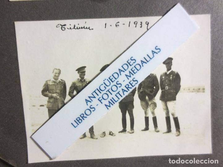 Militaria: 1939 TILIUIN ACABADA LA GUERRA CIVIL ESPAÑOLA GRUPO DE OFICIALES FOTO ORIGINAL - Foto 3 - 123758959