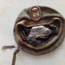 Militaria: GORRA MILITAR CON INSIGNIA DE AGUILA DE SAN JUAN Y CORONA.-AÑO 1991.. Lote 182311941