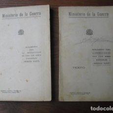Militaria: 1937 INSTRUCCION DE TIRO CON ARMAS PORTATILES PRIMERA Y SEGUNDA PARTE EJERCITO REPUBLICANO. Lote 124144183