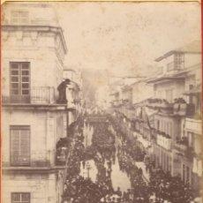 Militaria: MARINA - FOTOGRAFÍA TRASLADO RESTOS DEL CONTRALMIRANTE CASTO MÉNDEZ NÚÑEZ DESDE VIGO A CÁDIZ - 1883. Lote 124235487