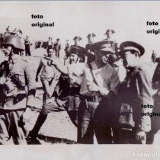 Militaria: TENIENTE CORONEL REPUBLICANO PUIG EN BUITRAGO(MADRID) DIRIGIENDO OPERACIONES GUERRA CIVIL. Lote 124279727