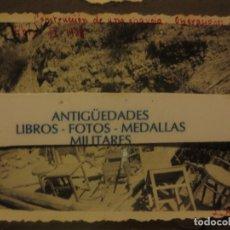 Militaria: CONSTRUCCION CHAVOLA ( CAMPAMENTO ) AVANCE EN CATALUÑA BATALLA DEL EBRO IX 1938 LEGION GUERRA CIVIL. Lote 124489543
