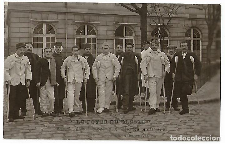 POSTAL FOTOGRAFICA. HERIDOS PRIMERA GUERRA MUNDIAL. (Militar - Fotografía Militar - I Guerra Mundial)