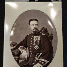 Militaria: MAGNIFICA FOTOGRAFIA MILITAR, NAL Y CHICANO. CADIZ. RICARDO DE BARBERA 1878. Lote 124614838