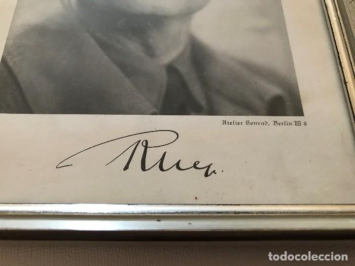 Militaria: Facsímil Foto de Rudolf Hess autografiada,firmada, Tercer Reich, Adolf Hitler, Fuhrer,NSDAP,nazi - Foto 2 - 124936479