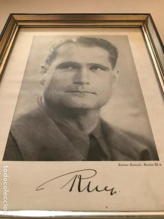 Militaria: Facsímil Foto de Rudolf Hess autografiada,firmada, Tercer Reich, Adolf Hitler, Fuhrer,NSDAP,nazi - Foto 3 - 124936479