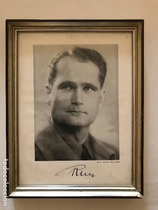 FACSÍMIL FOTO DE RUDOLF HESS AUTOGRAFIADA,FIRMADA, TERCER REICH, ADOLF HITLER, FUHRER,NSDAP,NAZI (Militar - Fotografía Militar - II Guerra Mundial)