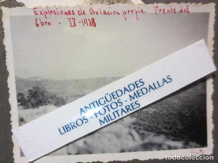 EXPLOSIONES AVIACION PROPIA FRENTE EBRO SEGRE IX 1938 CATALUÑA GUERRA CIVIL POR AVIONES NACIONALES (Militar - Fotografía Militar - Guerra Civil Española)