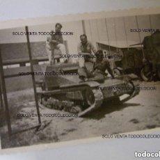 Militaria: CARRO VELOCE FIAT ANSALDO CV-33 FOTO ORIGINAL GUERRA CIVIL ESPAÑOLA. Lote 125207367