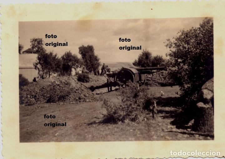 ARTILLERIA NACIONAL LEGION CONDOR ZONA ARAGONESA-CATALANA 1938 GUERRA CIVIL (Militar - Fotografía Militar - Guerra Civil Española)