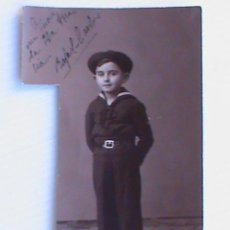 Militaria: GUERRA CIVIL : FOTO DE NIÑO VESTIDO DE MARINERO . FLECHA NAVAL ?. SEVILLA, 1938. Lote 125235959