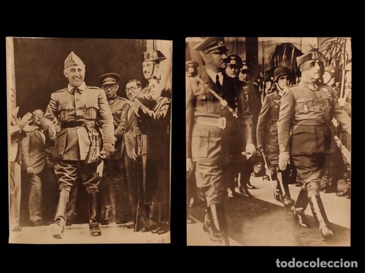 FRANCO Y HITLER, FRANCO. (Militar - Fotografía Militar - Guerra Civil Española)