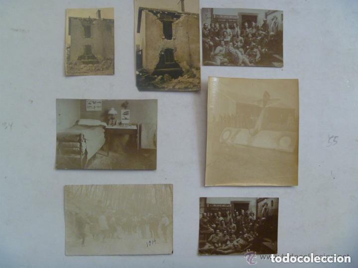 LOTE DE 7 FOTOS DE LA 1 ª GUERRA MUNDIAL: SOLDADOS FRANCESES , AVION DERRIBADO, ETC (Militar - Fotografía Militar - I Guerra Mundial)