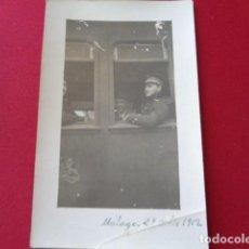 Militaria: MÁLAGA. 1919. MILITAR EN CONVOY EXTRANJERO EN MÁLAGA. MILITAR A IDENTIFICAR. Lote 126217675