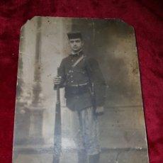 Militaria: FOTOGRAFIA SOLDADO GUERRA MARRUECOS 1912. Lote 126915154