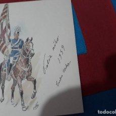 Militaria: LAMINA MILITAR ILUSTRACION C. URBEZ. 1959 TAMAÑO TARJETA POSTAL.. Lote 127509919