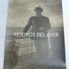 Militaria: GRAN FOTOGRAFIA DEL CAUDILLO FRANCISCO FRANCO, EL GENERALISIMO EN EL YATE AZOR, AÑOS 40, FOTOGRAFO J. Lote 127619599