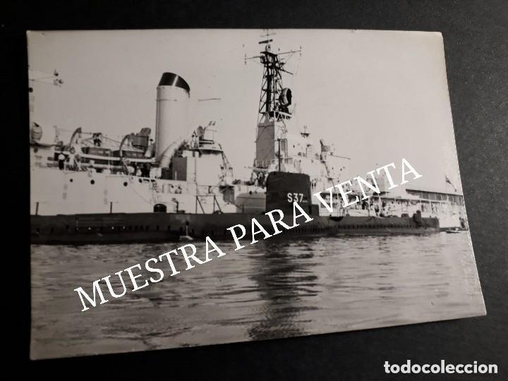 SUBMARINO S37 ARMADA ESPAÑOLA FOTO ANTIGUA ORIGINAL (Militar - Fotografía Militar - Otros)