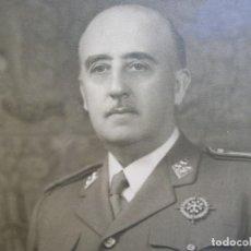 Militaria: MUY RARA Y EXCEPCIONAL FOTO FIRMADA Y DEDICADA POR EL CAUDILLO GENERALISIMO FRANCO. 100% ORIGINAL.. Lote 127997899