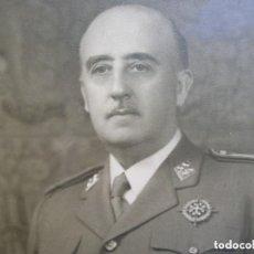Militaria: MUY RARA Y EXCEPCIONAL FOTO FIRMADA Y DEDICADA POR EL CAUDILLO GENERALISIMO FRANCO. 100% ORIGINAL.. Lote 127998867