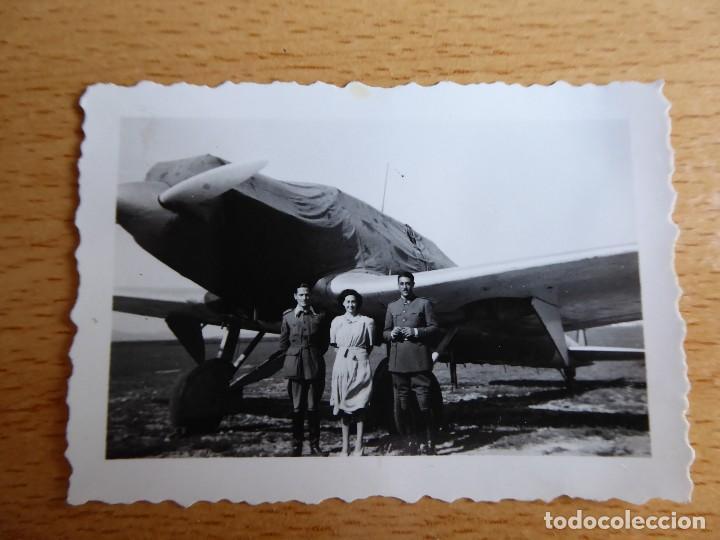 Militaria: Fotografía avión Heinkel HE 70. Aeródromo de Tetuán - Foto 2 - 128020595