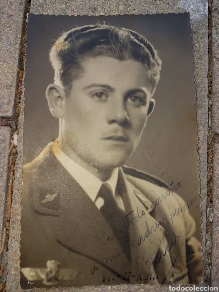FOTOGRAFIA POSTAL PILOTO AVIACION FRANQUISTA 1943 ROKISKI (Militar - Fotografía Militar - Otros)