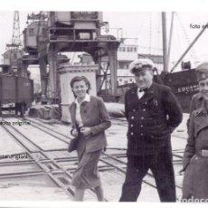 Militaria: OFICIALES LEGION CONDOR CAPITAN BUQUE MATERIAL BELICO PUERTO SANTANDER 1937 GUERRA CIVIL. Lote 128136175