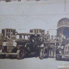 Militaria: FOTOGRAFÍA OFICIALES DEL EJÉRCITO ESPAÑOL. AUTOMOVILISMO. Lote 128175383
