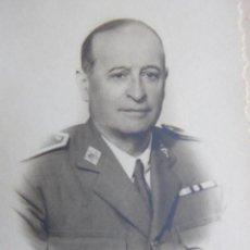 Militaria: FOTOGRAFÍA GENERAL DE BRIGADA DEL EJÉRCITO ESPAÑOL. NEMESIO BARRUECO PÉREZ. Lote 128176079