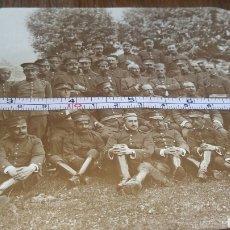 Militaria: FOTOGRAFÍA DE MILITARES ESPAÑOLES DE ESTADO MAYOR EN ELIZONDO 1918. Lote 128259815