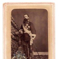 Militaria: FOTO CABINET.- BRIGADIER MANUEL VILLACAMPA. SE SUBLEVÓ EN MADRID PARA PROCLAMAR LA REPÚBLICA ESPAÑA. Lote 128322275
