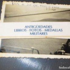 Militaria: GUERRA CIVIL DESEMBARCO BARCO COBATIENTES LEGION A SIDI IFNI 1 -V - 1939 FOTO INEDITA DATADA. Lote 128365667
