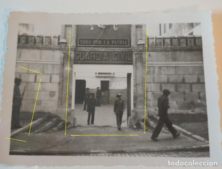 CUARTEL GUARDIA CIVIL BARCELONA 1938 LEGION CONDOR GUERRA (Militar - Fotografía Militar - Guerra Civil Española)