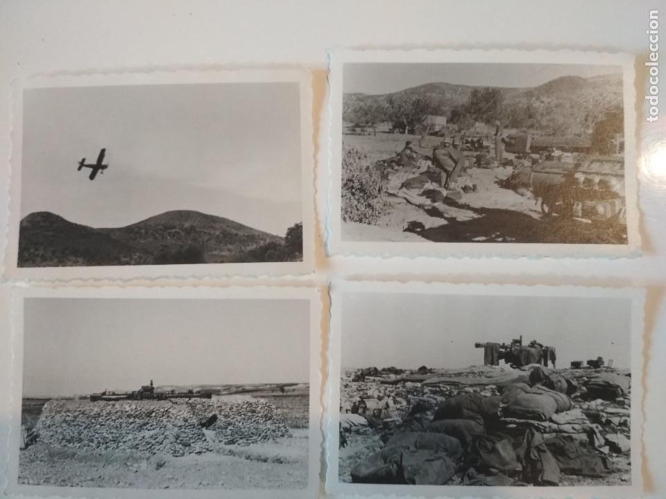LOTE 4 FOTOS LEGION CONDOR CAÑON ANTIAEREO FLAK 88 GUERRA CIVIL 1938 (Militar - Fotografía Militar - Guerra Civil Española)