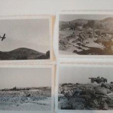 Militaria: LOTE 4 FOTOS LEGION CONDOR CAÑON ANTIAEREO FLAK 88 GUERRA CIVIL 1938. Lote 128492887