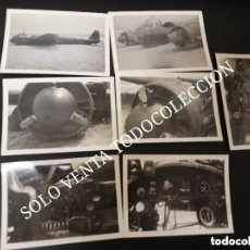 Militaria: LOTE 7 FOTOS JUNKERS JU88 AVIÓN ESTRELLADO SEGUNDA GUERRA MUNDIAL FOTO ORIGINAL X7. Lote 128685059