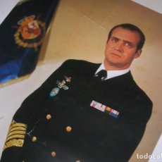 Militaria: EXCEPCIONAL FOTOGRAFIA OFICIAL DE GRAN TAMAÑO DE SM EL REY DON JUAN CARLOS DE ALMIRANTE DE LA ARMADA. Lote 128696783