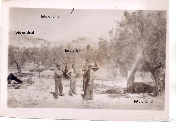 GRUPO ARTILLERIA LEGION CONDOR, AL FONDO ALCAÑIZ(TERUEL) GUERRA CIVIL (Militar - Fotografía Militar - Guerra Civil Española)