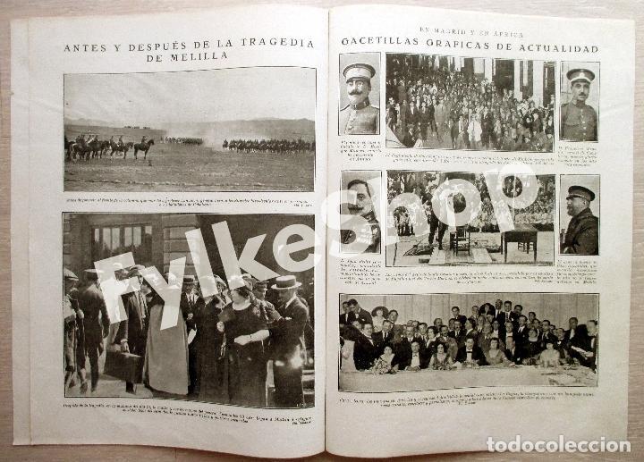 Militaria: DESASTRE ANNUAL. 5 PÁGINAS. MUERTE GENERAL FERNÁNDEZ SILVESTRE y OTROS. - Foto 2 - 128865315
